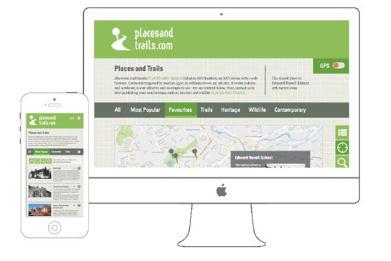 Places & Trails – web app