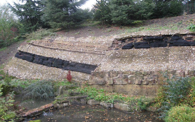 Geological strata at Crystal Palace Park