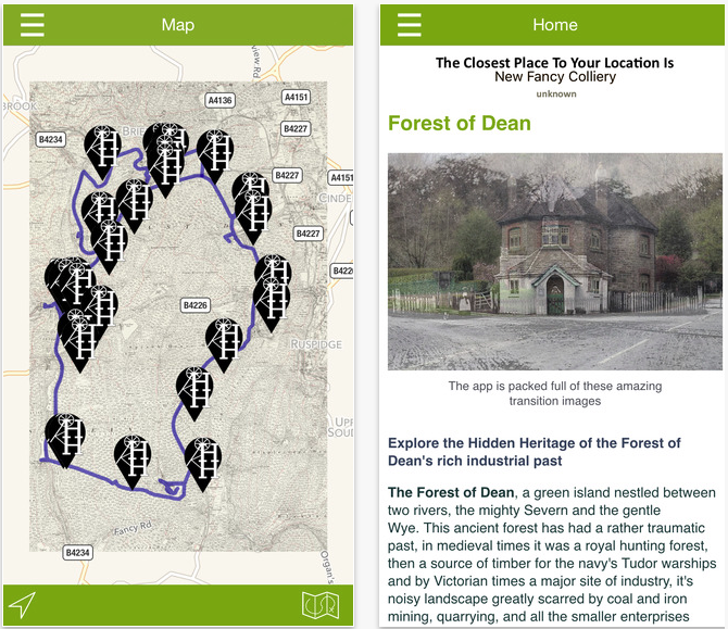 Hidden Heritage of the Dean app iOS screenshots -Forest of Dean