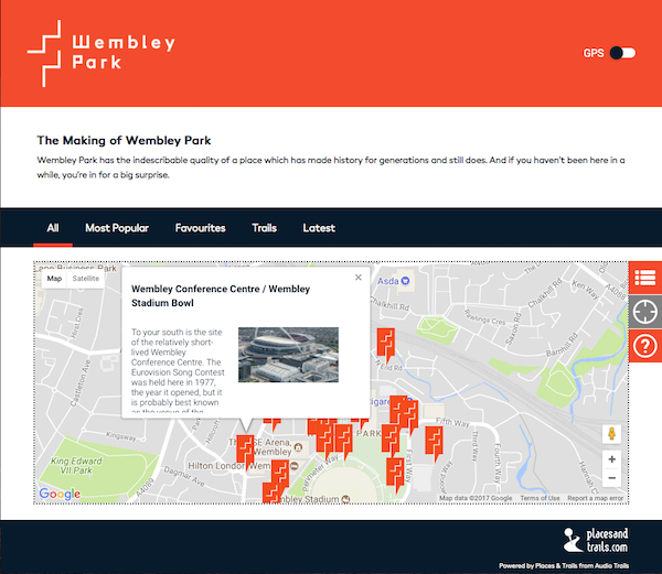 Wembley Park Heritage Trail screenshot
