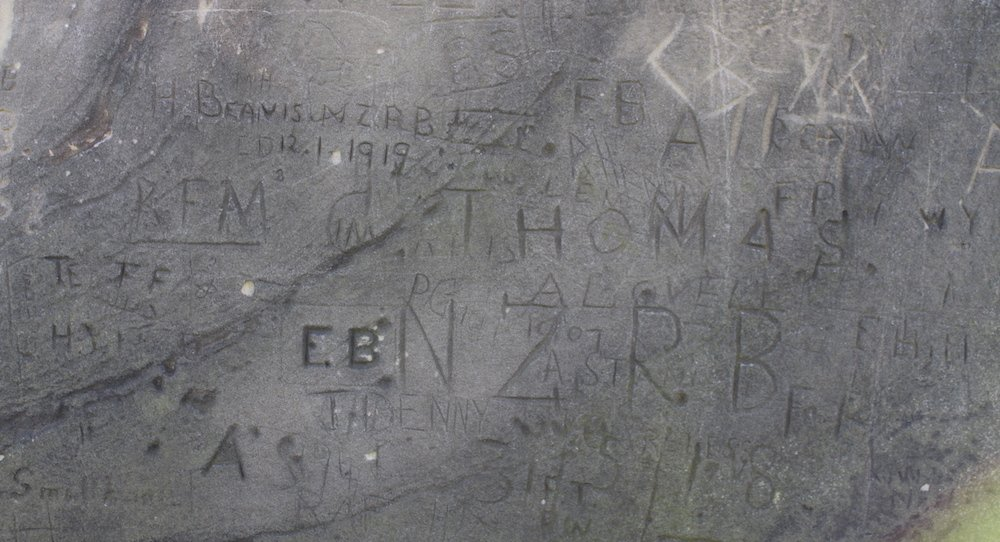 NZRB soldiers H.Beavis and C.Thomas left their mark, along with many others