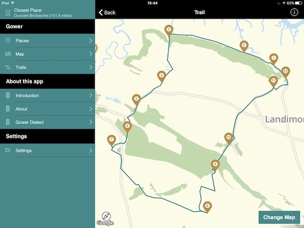 The Llandimore trail from the This is Gower app