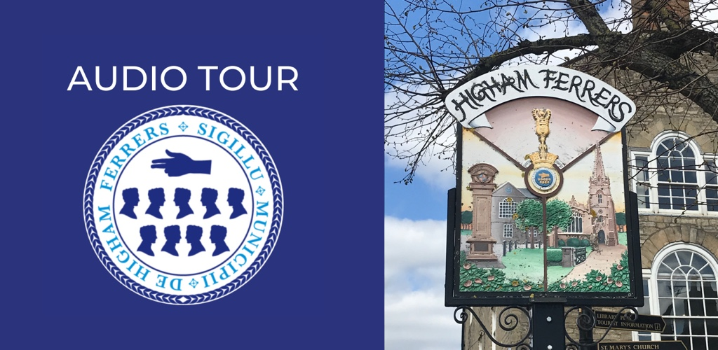 higham ferreres audio tour promo with town council log on left and picture of the town sign on the right.